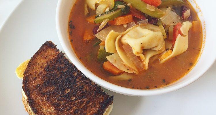 Healthy Creamy Tortellini Soup