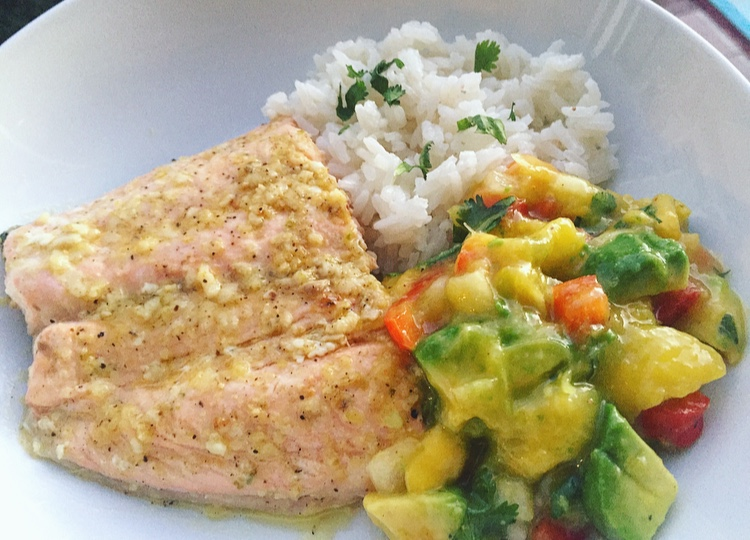 grilled ginger lime salmon